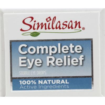 Similasan Eye Drops, Sterile, Complete Eye Relief