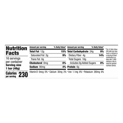 Larabar Gluten Free Bar, Peanut Butter Cookie, Dairy Free, 16 Count