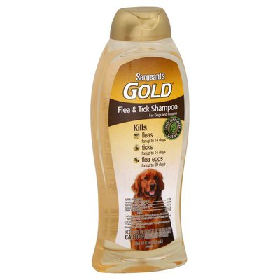 Sergeant's Flea & Tick Shampoo, For Dogs and Puppies, Green Tea & Ginger Scent