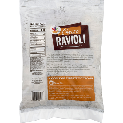 SB Pasta, Ravioli, Cheese, Family Size