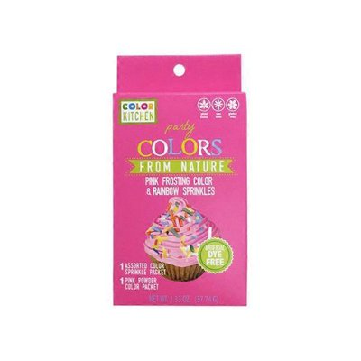 Color Kitchen Pink Food Color & Rainbow Sprinkle Party Set