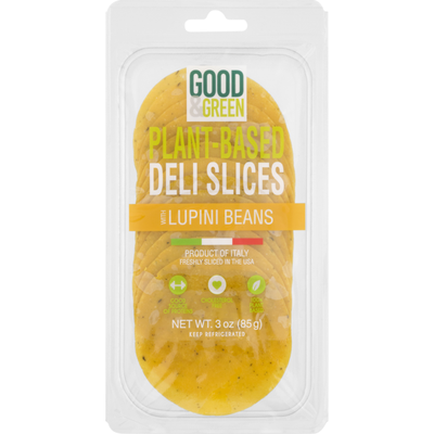 Good & Green Plant-Based Deli Slices with Lupini Beans