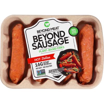 Beyond Meat Beyond Sausage, Plant-Based Sausage Links, Hot Italian