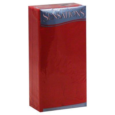 Sensations Napkins, Dinner, Red, Wrapped