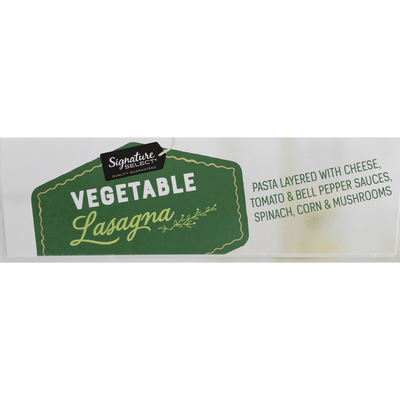 Signature Select Lasagna, Vegetable, Family Size