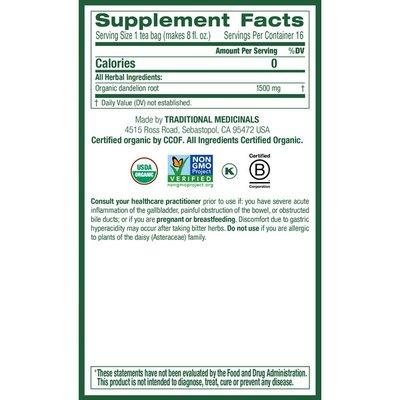 Traditional Medicinals Organic Roasted Dandelion Root, Caffeine Free Herbal Tea