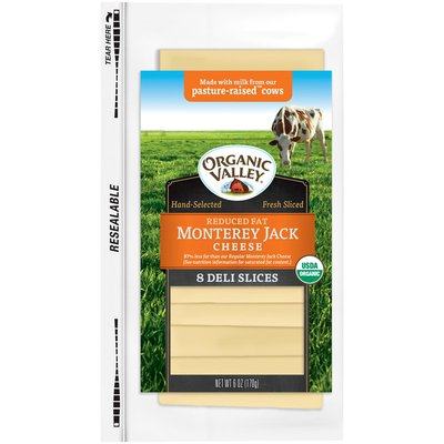 Organic Valley Reduced Fat Monterey Jack Slices Cheese