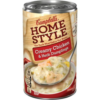 Campbell's® Homestyle Creamy Chicken & Herb Dumplings Soup