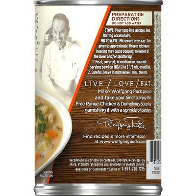Wolfgang Puck® Organic Free Range Chicken & Dumplings Soup