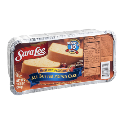 Sara Lee Pound Cake, All Butter