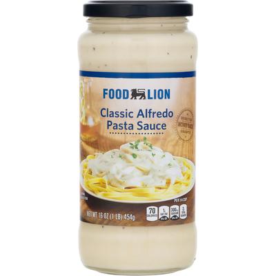 Food Lion Pasta Sauce, Classic Alfredo