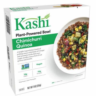 Kellogg's Kashi Plant-Based Protein Bowl, Vegan, Frozen Meal, Chimichurri Quinoa