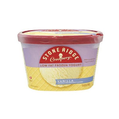 Stone Ridge Creamery Frozen Yogurt, Low Fat, Vanilla