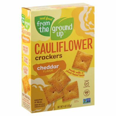 Real Food From The Ground Up Cheddar Cauliflower Cracker