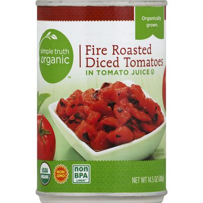 Simple Truth Organic Tomatoes, Organic, Fire Roasted, Diced, in Tomato Juice