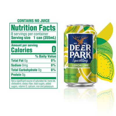 Deer park Sparkling Water, Lemon Lime