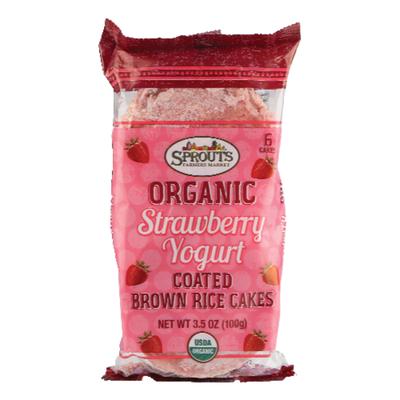 Sprouts Organic Strawberry Yogurt Rice Cakes