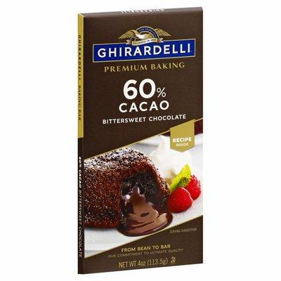 Ghirardelli Chocolate Premium 60% Cacao Bittersweet Chocolate Baking Bar