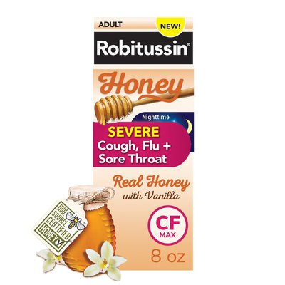 Robitussin Syrup Honey Adult Max Strength Severe Night, Honey Adult Max Strength Severe Night
