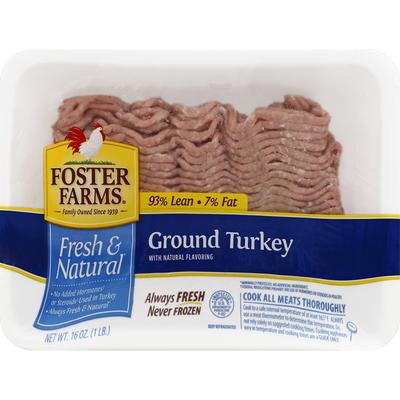 Foster Farms Turkey, Ground, 93% Lean/7% Fat