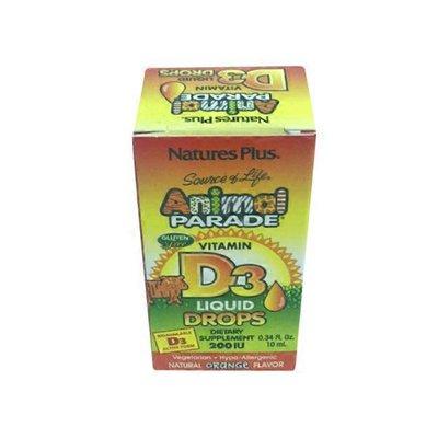 Nature's Plus Animal Parade Vitamin D3 Liquid Dietary Supplement, 200 Iu, Orange