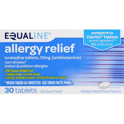 Equaline Allergy Relief, Original Prescription Strength, Tablets
