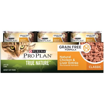 Pro Plan Cat Wet True Nature Adult Chicken & Liver Entree Classic Cat Food