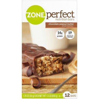 Zone Perfect Chocolate Peanut Butter Bars ZonePerfect Nutrition Bar Chocolate Peanut Butter Bars Bars