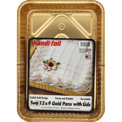 Handi-Foil Gold Pans with Lids