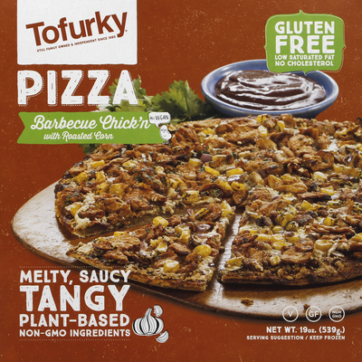 Tofurky Pizza, Barbecue Chick'n with Roasted Corn