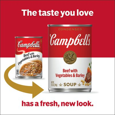 Campbell's® Beef with Vegetables & Barley Soup
