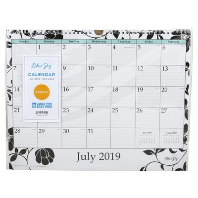 BlueSky Calendar, Jul 2019 - Dec 2020