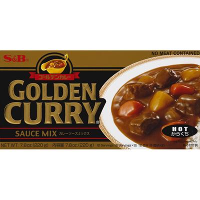 S&b Sauce Mix, Golden Curry, Hot