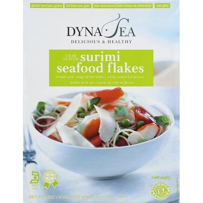 Dyna-Sea Seafood Flakes, Surimi, Crab Flavor