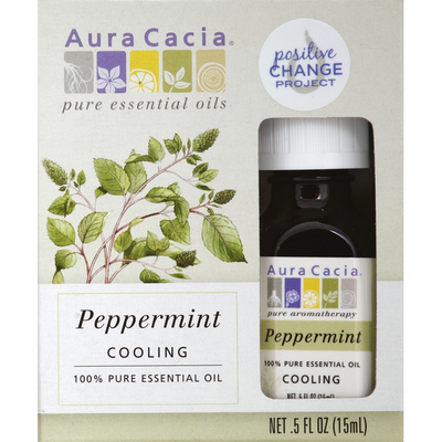 Aura Cacia Essential Oil, 100% Pure, Peppermint, Cooling