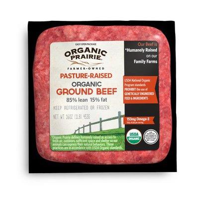 Organic Prairie Pasture Raised 85% Lean Organic Ground Beef