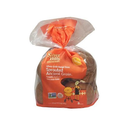 Silver Hills Sprouted Power Hamburger Sprouted Whole Grain Buns