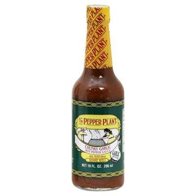 Pepper Plant Hot Pepper Sauce, Chunky Garlic