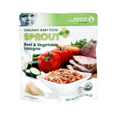 Sprout Advanced Beef & Vegetable Lasagna Organic Baby Food