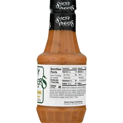Sticky Fingers Smokehouse Barbecue Sauce, Carolina Classic