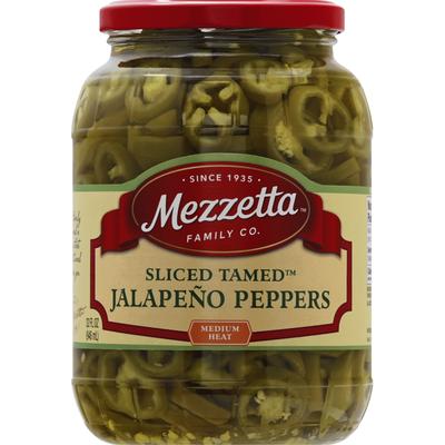 Mezzetta Jalapeno Peppers, Medium Heat, Sliced