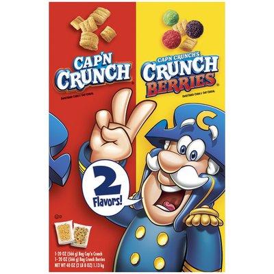 Cap'N Crunch Original & Crunch Berries 20 Oz Split Cereal