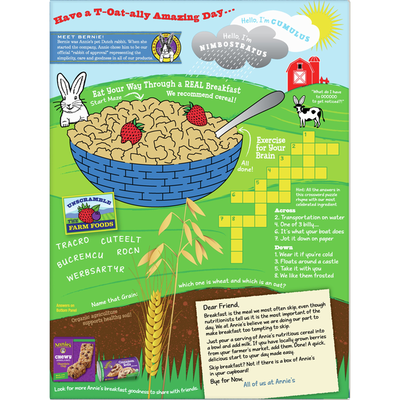 Annie's Organic Frosted Oat Flakes, Whole Grain Cereal