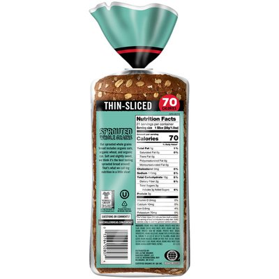 Dave's Killer Bread Sprouted Whole Grains Thin Sliced Organic Bread