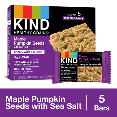 KIND Healthy Grains Maple Pumpkin Seeds with Sea Salt Granola Bars