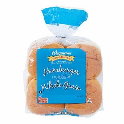 Wegmans Hamburger Rolls made with Whole Grain, 8 Pack