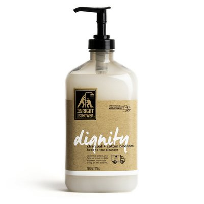 The Right To Shower Body Wash Charcoal And Cotton Blossom