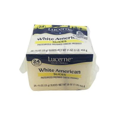 Lucerne White American Cheese Slices