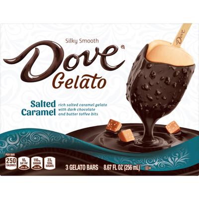 Dove Salted Caramel Gelato Bars 3 ct Box
