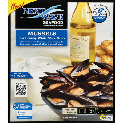 Next Wave Seafood Mussels in a Creamy White Wine Sauce